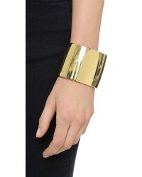 Kenneth Jay Lane | Metallic Thick Cuff Bracelet - Gold | Lyst