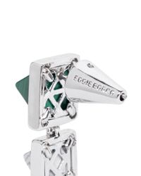 Eddie Borgo | Green Gemstone Pyramid Drop Earrings | Lyst
