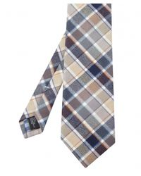 Jules B - Natural Large Check Tie for Men - Lyst