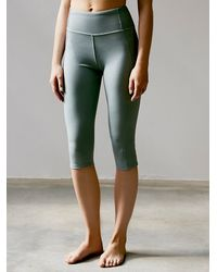 Free People | Green High Waisted Legging | Lyst