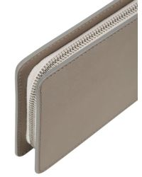Bonastre Gray Vegetable Tanned Leather Wallet
