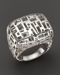 Roberto Coin | Metallic Sterling Silver Skyline Polished Ring | Lyst