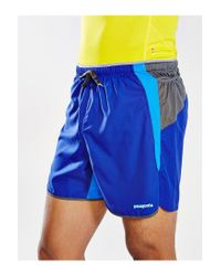 Patagonia - Blue 5-Inch Strider Pro Short for Men - Lyst