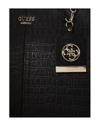 Guess - Casey Black Winged Tote Bag - Lyst