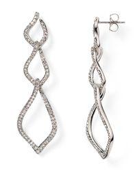 Nadri | Metallic Pavé Fluid Links Drop Earrings | Lyst