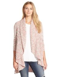 NIC+ZOE | Pink 'coral Room' Open Front Cardigan | Lyst