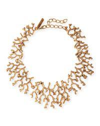 Oscar de la Renta | Pink Rectangular Bead Bib Necklace | Lyst