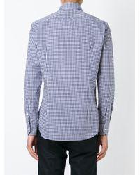 Etro - Blue Gingham Check Shirt for Men - Lyst