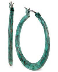 Robert Lee Morris - Green Patina Small Hoop Earrings - Lyst