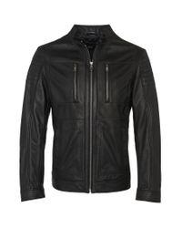 BOSS Black Regular-fit Leather Jacket: 'naquinn' for men