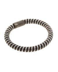 Carolina Bucci - Gray Metallic Twister Bracelet Black Rhodium - Lyst