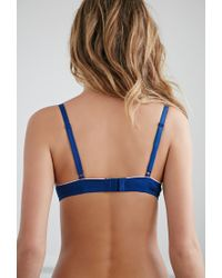 Forever 21 - Blue Ornate Lace T-shirt Bra - Lyst