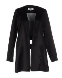 MM6 by Maison Martin Margiela - Black Full-length Jacket - Lyst