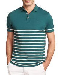 AG Green Label - Green Sebastian Striped Polo for Men - Lyst