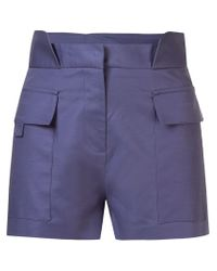 Giuliana Romanno | Blue Mid Rise Shorts | Lyst
