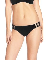 Red Carter Black 'neo Wave' Hipster Bikini Bottoms