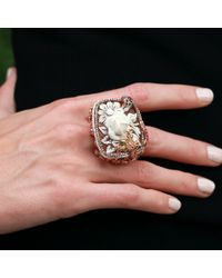Wendy Yue | Pink Carved Pearl Ring | Lyst