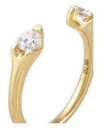 Anita Ko Metallic Orbit 18-Karat Gold Diamond Ring