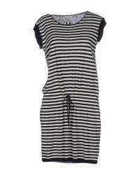 Woolrich - Blue Short Dress - Lyst