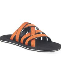 Danward Orange Multi Strap Sandals - For Men for men
