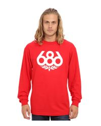686 - Red Wreath L/s T-shirt for Men - Lyst