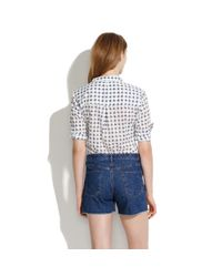 Madewell Blue High Rise Denim Shorts