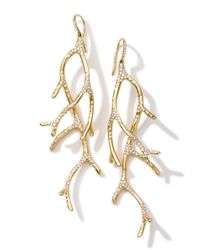 Ippolita | Metallic 18k Gold Stardust Multi-branch Earrings With Diamonds | Lyst
