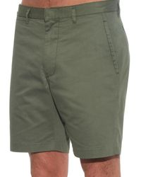Marc By Marc Jacobs Green Washed Cotton-Twill Shorts for men