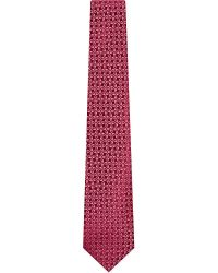 Charvet - Pink Abstract Square Silk Tie for Men - Lyst