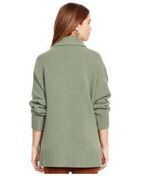 Polo Ralph Lauren | Green Relaxed-fit Turtleneck Sweater | Lyst