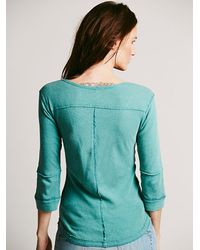 Free People | We The Free Blue Monday Henley | Lyst
