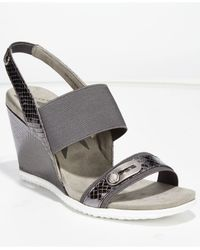 Anne Klein | Metallic Mikki Wedge Sandals | Lyst