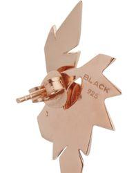 Maria Black Metallic Wing Rose Gold-Plated Earrings