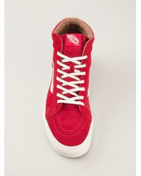 Vans Red 'Sk8-Hi' Hi-Top Sneakers for men
