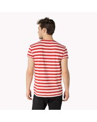 Tommy Hilfiger Red Cotton T-shirt for men