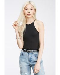 Forever 21 | Black Double-Racer Cami | Lyst