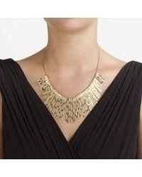 John Lewis - Metallic Textured Fan Necklace - Lyst