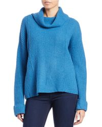 Free People | Blue Sidewinder Wool Pullover | Lyst