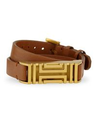 Tory Burch | Brown Fitbit-case Double Wrap Bracelet | Lyst