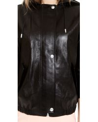 Alexander Wang Black Leather Parka