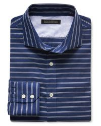 Banana Republic | Blue Tailored Slim-fit Non-iron Striped Shirt for Men | Lyst
