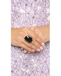 Erickson Beamon - Black Cocktail Ring - Emerald - Lyst