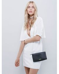 Free People | Black Womens Tarnished Chain Crossbody | Lyst