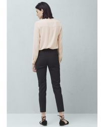 Mango Black Straight Trousers