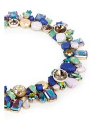 J.Crew - Blue Wild Crystal Necklace - Lyst