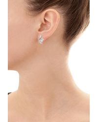 Tina Zafari - Metallic Diamond Earrings - Lyst