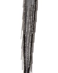 Chan Luu - Black Beaded Scarf Necklace - Shitake - Lyst