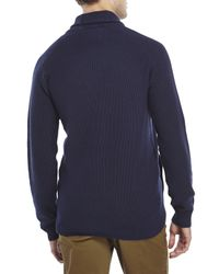 Timberland | Blue Shawl Collar Knit Cardigan for Men | Lyst