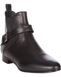 Miu Miu | Black Buckle-Strap Ankle Boots | Lyst