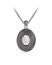 David Yurman - Metallic Cable Coil Pendant With Moon Quartz And Gold - Lyst